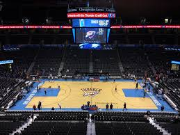 Oklahoma City Thunder Arena Seating Chart Chesapeake Energy Arena Upper Level Mezzanine Basketball