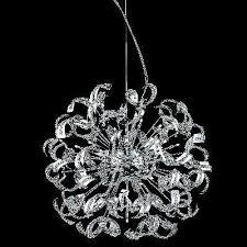 elegant lighting 2068d27c tiffany series crystal pendant chandelier 27 5 wide x 27 5 tall royal cut chrome plated twenty five 60wt candelabra base bulbs