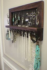 homey design wall hanging jewelry organizer home decorating ideas best 25 on diy within holder