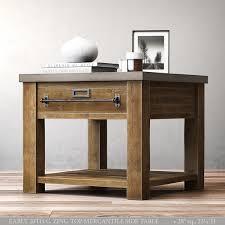 zinc top mercantile table 3d max