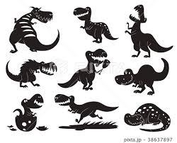 Dinosaurs Vector Dino Silhouette Animalのイラスト素材 38637897 Pixta