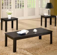 ... Occasional Decorations Coffee Tables And End Tables Sets Hardwood Black  Unique Three Pieces Furniture Small Long ...