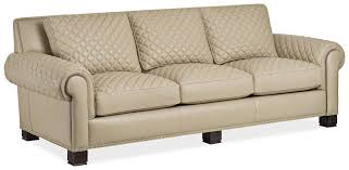 Quilted cream leather sofa - Bernadette Livingston & 6218-3-Q Parisian Quilted Sofa Adamdwight.com