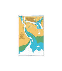 British Admiralty Nautical Chart 833 Yangon River Rangoon River And Approaches