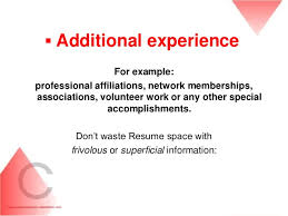 Examples Of Additional Information On Resume Extra Curricular