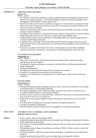 Psychiatrist Resume Samples Velvet Jobs