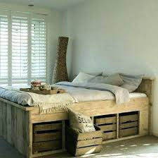 Raised Bed With Storage Raised Double Bed With Storage Storage Raised  Double Bed Storage