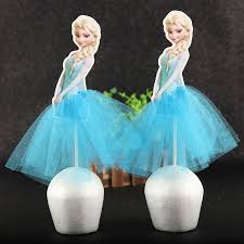 5pcslot Disney Frozen Queen Anna Princess Cake Cupcake Toppers For
