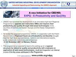Ppt Unidos Programme For Industrial Upgrading And