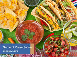 Food Presentation Template Hot Mexican Food Powerpoint Template Infographics Slides
