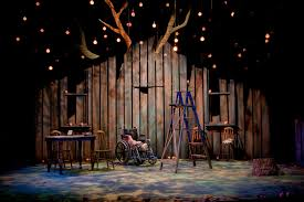 Beautiful Set Design Stark Yet Beautiful Stage Set Plays Stage Lighting