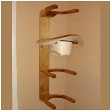 wooden cowboy western hat rack 4 hook horizontal wall mount baseball hat rack wall mount