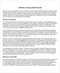 scholarship essay writing 10 scholarship essay examples samples pdf