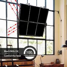 Homein Fensterfolie Schwarze Sichtschutzfolie Selbstklebend Folie