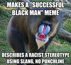 "makes a ""successful black man"" meme describes a racist stereotype ... via Relatably.com"