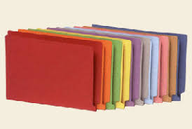 Color Folders Without Dividers Or Pockets
