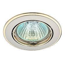 Встраиваемый <b>светильник Novotech</b> 369105, серебристый ...