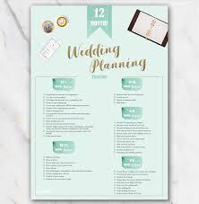 Printable Wedding Planner 1 Year Printable Wedding Planner Checklist Green Free