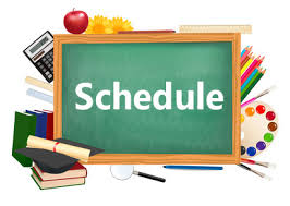 Image result for weekly schedule clipart