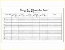 Blood Sugar Log Printable Chart Glucose Spreadsheet Tracking Book