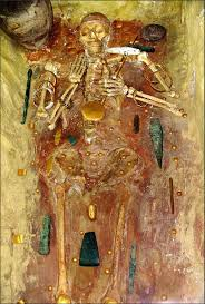 burial from the varna necropolis bulgaria 4 600 4 200 bc the conns some of the oldest known jewellery of gold including a