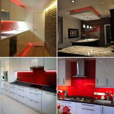 led lighting in kitchen. red led strip light kitchen set led lighting in n