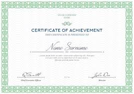 Templates For Certificates Free Certificates Templates Psd