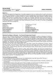 Free Resume Tool Tool Room Manager Resume Samplelroom Example Templates Collection 87