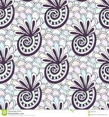 doodling seamless pattern with se zentangle coloring page creative background for textile or coloring book in pastel colors