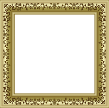gold photo frame png with brown ornaments png frames for pictures