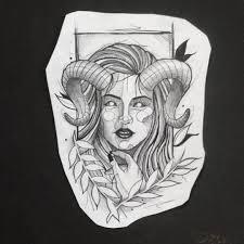 50 фото эскизы тату овен первый знак зодиака Tattooassist