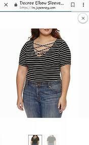 Jcpenney Juniors Plus Size 3x Decree Black Lattice Bodysuit