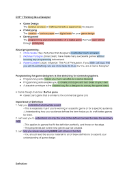 Game Designer Skills Chp 1 Thinking Like A Designer Game Development Wig3005