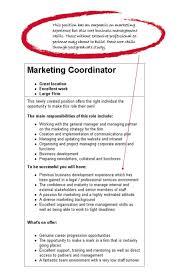 Cover Letter Sample Of Objective Resume For Marketing Coordinator