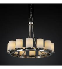 justice design fsn 8768 10 opal nckl fusion 12 light 28 inch brushed nickel chandelier ceiling light in opal