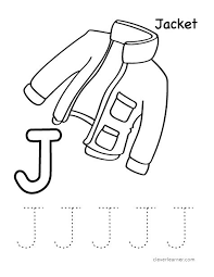 j is for jacket worksheet for preschools letter jacket resume template free net on research memorandum template