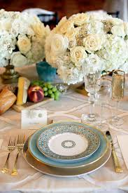 Blue And Gold Table Setting Theme Inspiration Glam Goddess United With Love