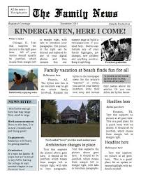 The Times Newspaper Template Two Page Family Times Newspaper Template Instant Download To Use In Word
