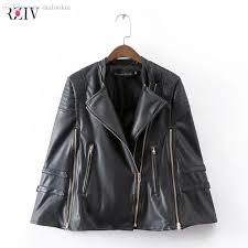 2019 whole 2016 gold zipper pu leather cape coat and black leather jacket women from maluokui 60 48 dhgate com