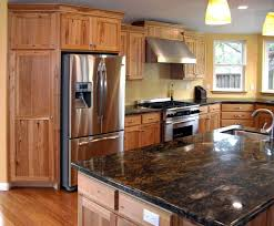 hickory cabinets with granite countertops fresh best way to paint kitchen cabinets a step by step
