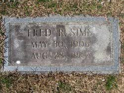 Fred R Sims Sr. (1905-1947) - Find A Grave Memorial