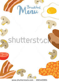 breakfast menu template english breakfast menu template stock illustration 192440801