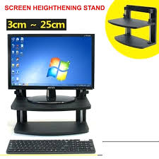 mount it single laptopnotebook desk mountstand under desk mount lockable laptop drawer 3 25cm screen heightening stand wood 2 layer computer sit stand work