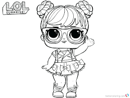 Doll Coloring Pages Beatnik Babe Series 3 Surprise Page Lol Dolls
