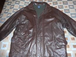 nautica brown leather jacket