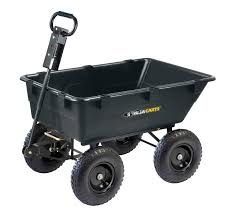 gorilla carts gor866d heavy duty garden poly dump cart with 2 in 1
