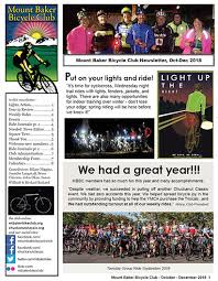 october newsletter ideas newsletters mount baker bicycle club
