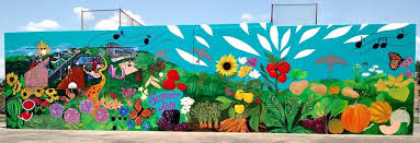 garden murals fantastic food mural at park outdoor with regard to wall plans 4