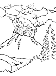 volcano coloring pages printable - 28 images - printable volcano ...