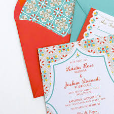 mexican wedding invitations. mexican tile wedding invitation suite invitations